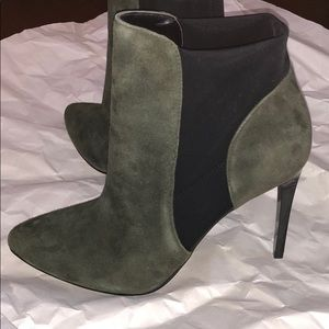 French Connection point toe heeled booties